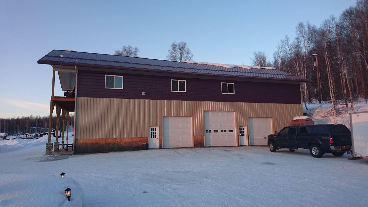 Metal siding building