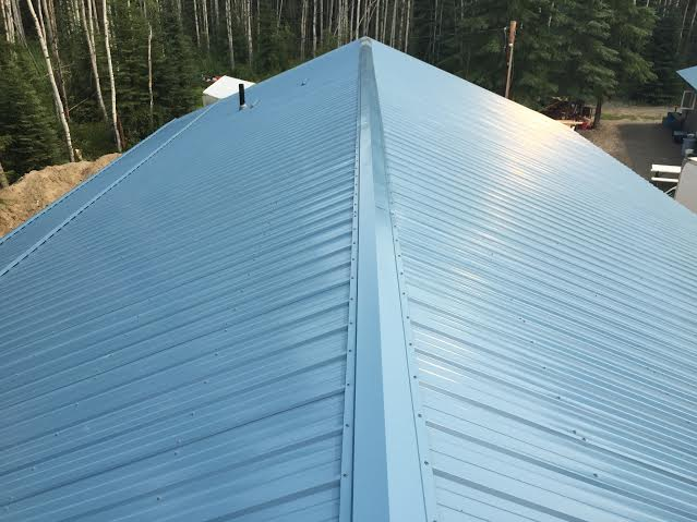 Seamless Metal Roofing Ridge